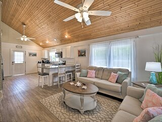 Pet-Friendly Oak Island Home Steps to Ocean Shore!