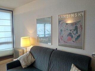 studio cabine 4 personnes cabine avec parking couvert, résidence Le Montana