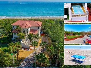 Del Mar al Cielo:  Luxury Beachfront Estate  ON  the Beach! w/elevator+pool!