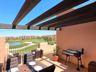Mar Menor Golf Resort - stunning apartment - large balcony terrace - Free WiFi