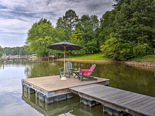 NEW! Lakefront Family Home w/ Dock & Ramp Access!