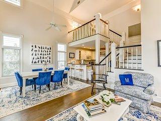 Stunning two-story getaway near the beach w/ spacious porch & balcony!