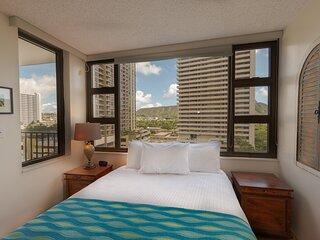 Clean & Modern 10th Floor Condo - One Block from Famous Waikiki Beach!