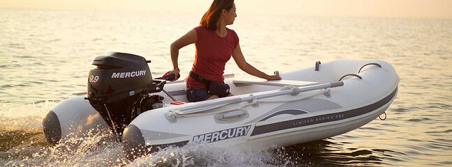 The Dinghy fits 6 people plus captain and is your means of transportation for your adventures
