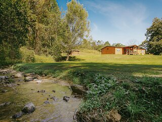 Little Bear Lodge with Babbling Brook on 3+ Acres Lehigh Valley/Allentown, PA