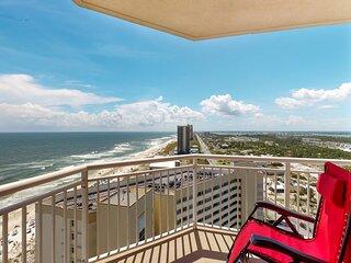 16th Floor Gulf Front Condo w/ Beach Setup Included, Near Entertainment