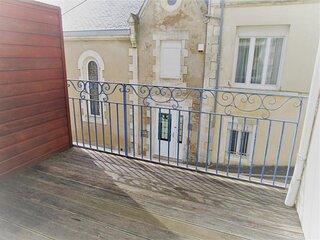 Maison 3 chambres a etage, spacieuse, proche plage, cadre de standing