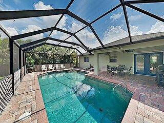 Modern Cape Coral Charmer w/ Private Pool, Lush Yard & Lanai