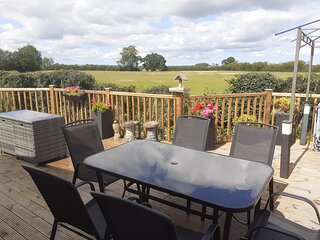 The Orchard Malton Holiday Lodge, Lovely Views from a very Large Balcony