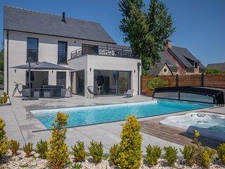 Villa Ajoncs - Maison piscine et jacuzzi - Arzon
