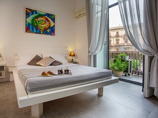 Double room B&B Palazzo Bruca Catania historical center