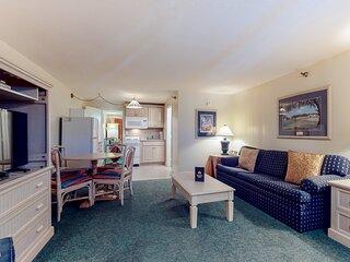 New listing! Coastal gem near the beach w/ shared pool & spacious interior!