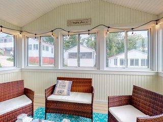 New listing! Enjoy a 3-season porch - steps to dining, near beach!