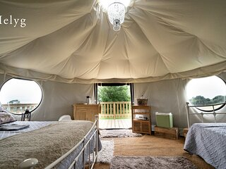 Helyg Snowdonia Glamping Bell Tent is the perfect snug hideaway