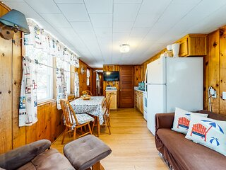 New listing! Family-friendly cottage with deck and shared grill