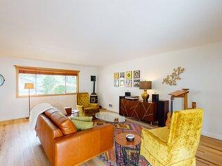 New listing! Chic, retro-cool getaway w/ a full kitchen, yard, & firepit