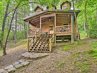 NEW! Serene Balsam Grove Cabin w/ Porch & Hot Tub!
