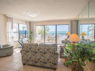 Beachfront Condo Directly Across from Johns Pass Village.  Excellent Location!