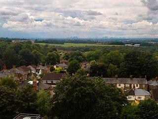 London Skyline Views Spacious Apartment Sleeps 5 & Private Balcony