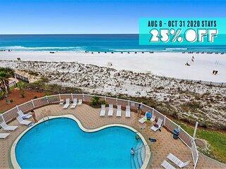 BEACHFRONT! Pool +FREE Beach Service +FREE Perks, $100 LiveWellCredit & MORE!