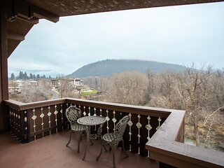Top Floor 2 BR/2.5 BA Condo with Stunning Views from Private Balcony – in Town!