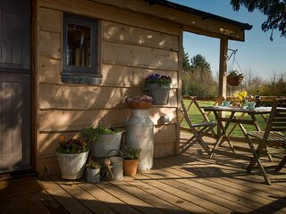Cedarwood glamping cabin