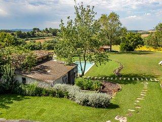 Masía Can Grau - Habitación 5 en entorno natural con jardín. piscina y caballos