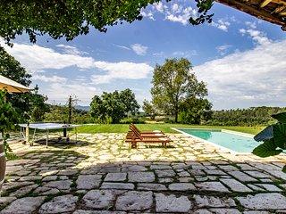 Masía Can Grau - Habitación 7 en entorno natural con jardín, piscina y caballos