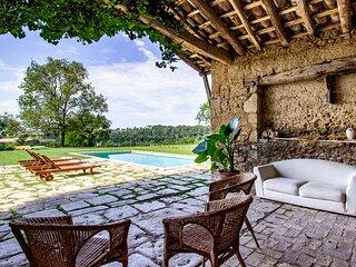 Masía Can Grau - Habitación 6 en entorno natural con jardín. piscina y caballos