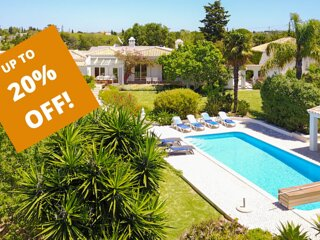 UP TO 20% OFF! AMENDOAL Peaceful villa,solar heated pool,garden,AC,WiFi,sea view