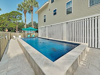 Three Buoys Designer Home with Private Pool & Patio | Short Walk to Beach!