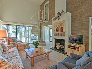 NEW! 3-Story Villa w/ Pool Access, Steps to Beach!