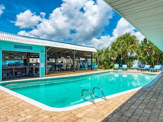 Canal-Front Dream w/ Saltwater Pool, Dock & Arcade Room – 3 Blocks to Beach!