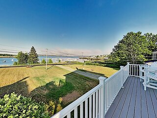 Charming Waterfront Retreat | Sweeping Ocean Views | Near Acadia Park & Ferry