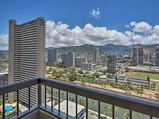 NEW! Chic High-Rise Waikiki Apt w/City & Mtn Views