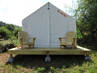 Tentrr Signature Site - Orchard Tent Overlooking Mohonk   Golden Russet