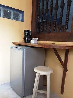 Refrigerator and coffeemaker