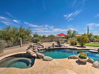 NEW! Desert Oasis w/ Mtn Views, Pool + Fire Pit