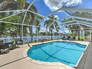 Relaxing Cape Coral Escape w/Pool & Dock on Canal!
