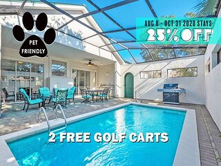 2 FREE Golf Carts! UPDATED, Pool +FREE Perks, $200 LiveWellCredit, Dogs Okay!