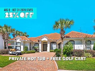 FREE Golf Cart & VIP Perks! Hot Tub, Game Room, $200 LiveWell Credit, & MORE!
