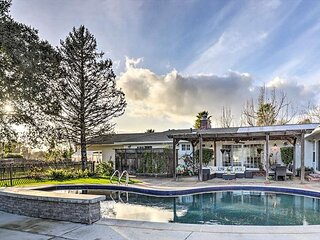 Enchanting Wine Country Estate w/ Private Pool, Hot Tub & Billiards Room