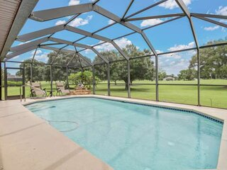 New Listing! Beautiful Golf Course View! Outdoor Living Space, Heated Pool, Minu