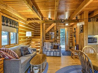 Steps to Slopes! Scenic Brule Village Cabin with 2 Fireplaces & Grill