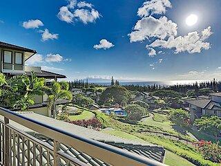 Ocean-View Kapalua Golf Villa: AC, 4 Pools & Tennis Garden - Walk to Beaches