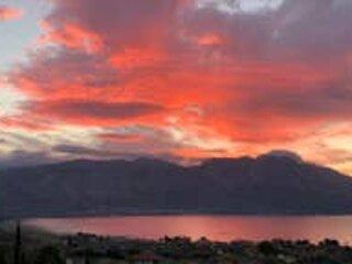 Sunset over Acarnanian mountains