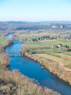 La Dordogne, vue du cingle à Domme