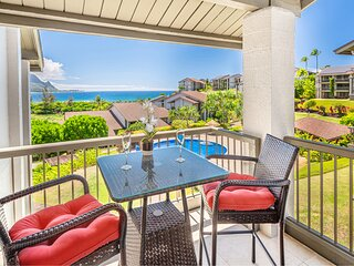 Perfect for Honeymooners, AC, Ocean Views, Hanalei Bay Resort Studio Suite 7308