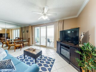 New listing! Gulf getaway w/ private balcony, beach access, & shared pool!