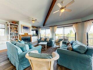 Spacious, dog-friendly house w/beach views, beach access, gas grill, large deck